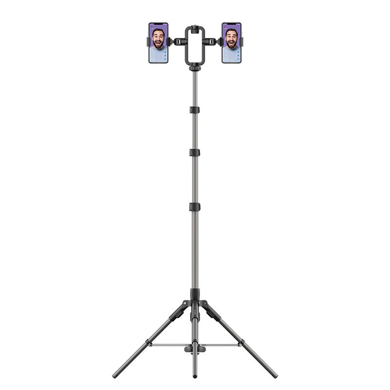 Momax V. Log 直播三腳支架 + 幻彩直播補光燈12寸 黑色 TR9+FL3A[三腳架+幻彩燈套裝]
