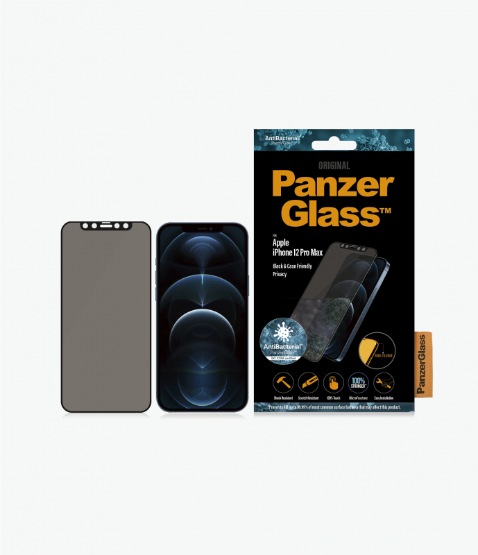 PanzerGlass™ iPhone 12 Mini /12/12 Pro/12 Pro Max Black - Privacy
