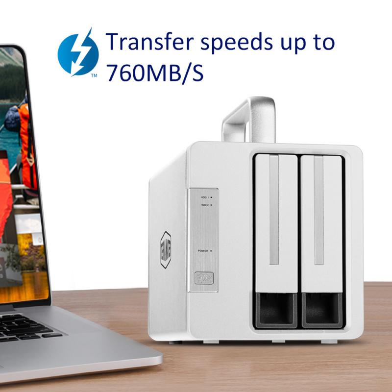TerraMaster TD2 Thunderbolt 3 plus 網絡儲存裝置