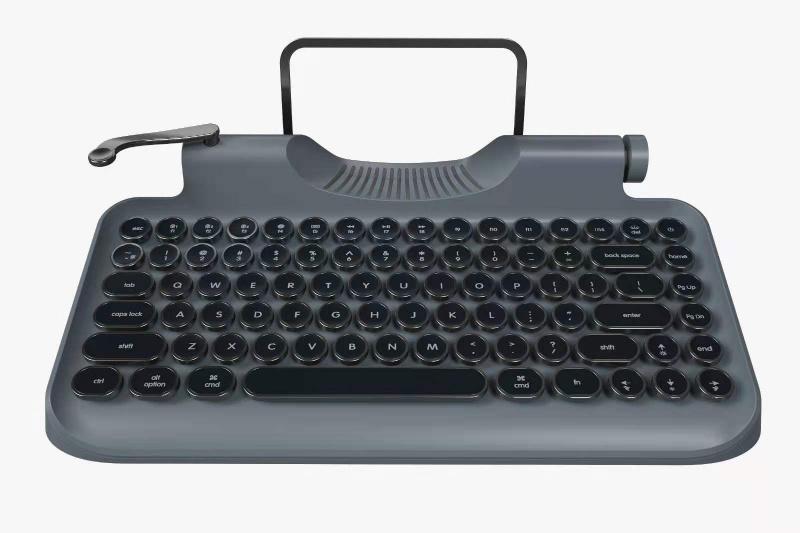 美國Rymek 復古打字機藍牙CherryMX青軸機械鍵盤【3色】