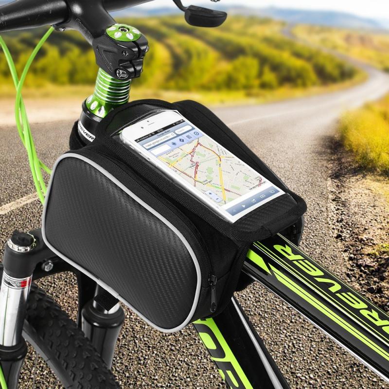 Lixada自行車前架觸摸屏手機袋