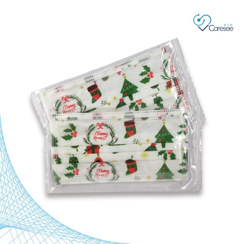 便利妥 Banitore 2D 白色聖誕樹 成人護理口罩 (中碼)(10片)聖誕節限定款2