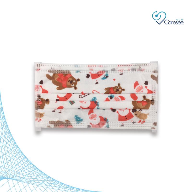 便利妥 Banitore 2D 白色聖誕熊 成人護理口罩 (中碼)(10片)聖誕節限定款3