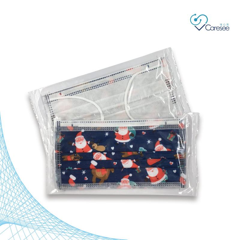 便利妥 Banitore 2D 藍色聖誕熊 成人護理口罩 (中碼)(10片)聖誕節限定款4