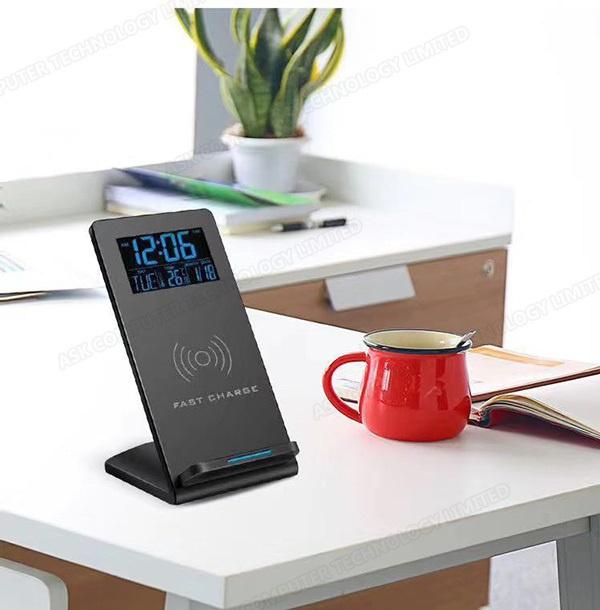 B&C 無線充電桌面電子時鐘鬧鐘