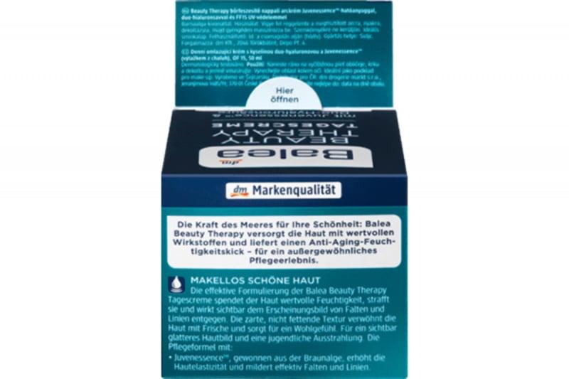 德國 Balea 芭樂雅 抗衰老 Juv褐藻療法專利配方 防曬日霜 50ml【市集世界 - 德國市集】