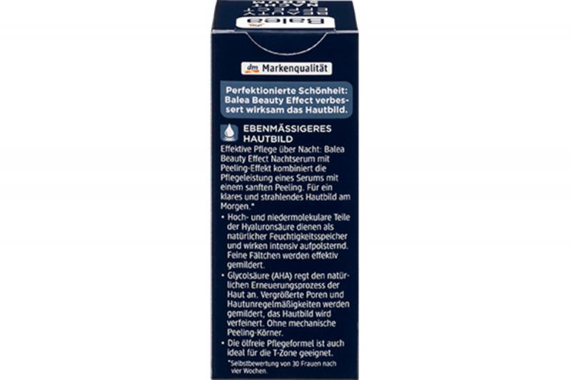 德國 Balea 芭樂雅 玻尿酸 水潤保濕夜用再生精華 (最新版) 30ml 【市集世界 - 德國市集】