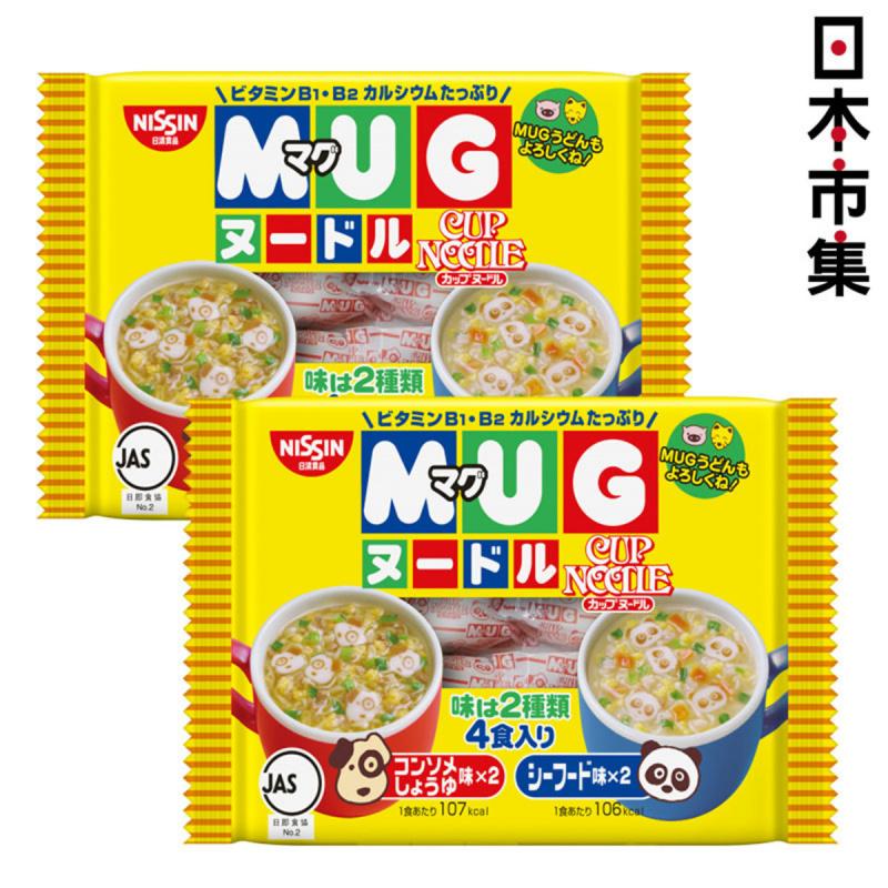 日版日清 MUG杯仔小童點心烏冬麵4包(醬油及海鮮味) 94g(2件裝)【市集世界 - 日本市集】