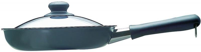 柳宗理 - 高碳鋼窒化加工單手網紋煎鍋 (附不鏽鋼蓋) [18CM)