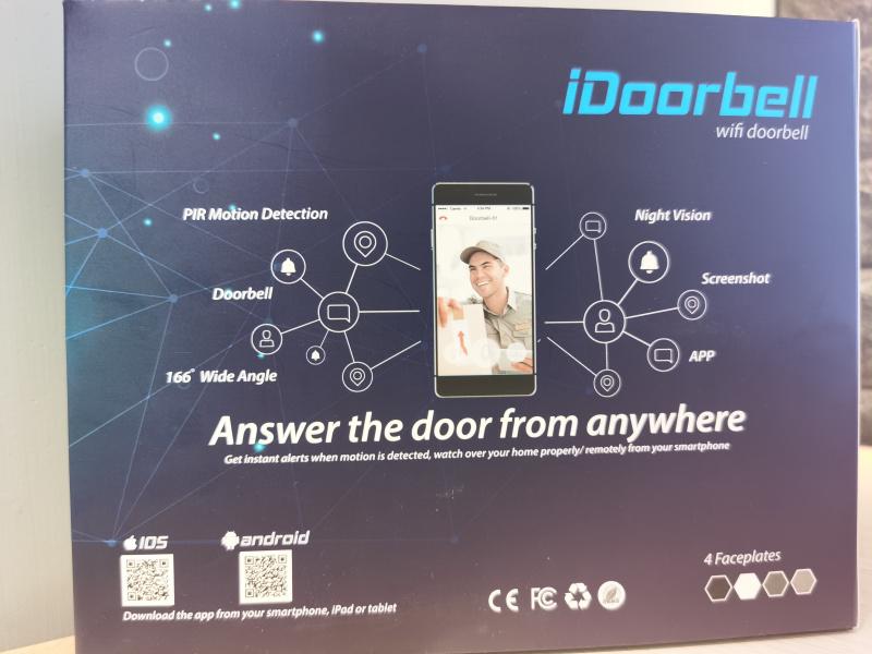 iDoorbell Wireless Video Doorbell (Built-in 32G Card)