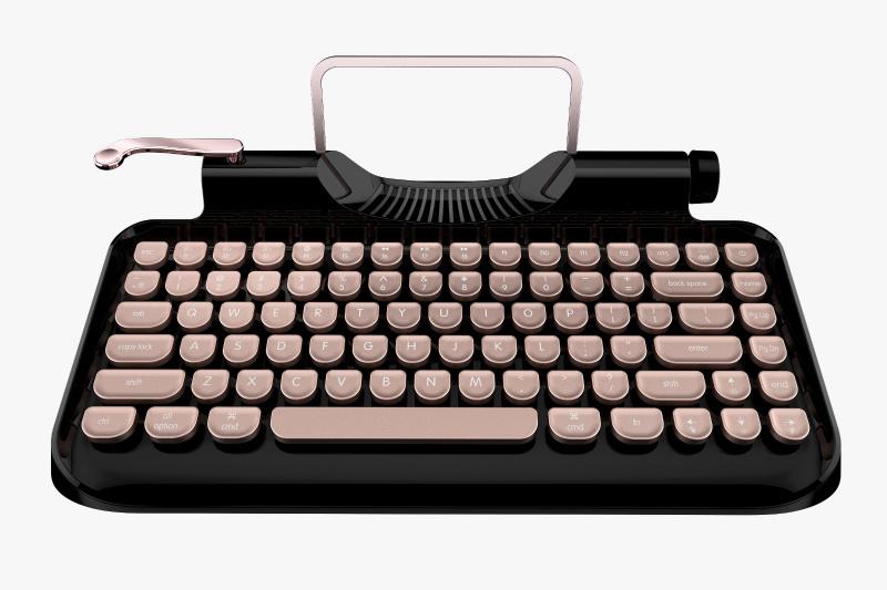 Rymek 復古打字機藍牙CherryMX青軸機械鍵盤
