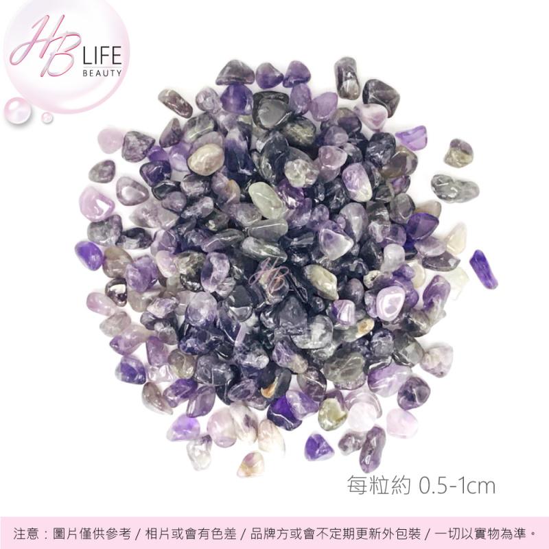 ORA 天然能量水晶碎石(磨滑)(紫晶)(100克)