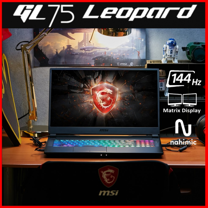 "MSI GL75 Leopard 10SEK 17.3""獵豹系列電競筆電 ( i7-10750H / RTX2060 / 144Hz )"