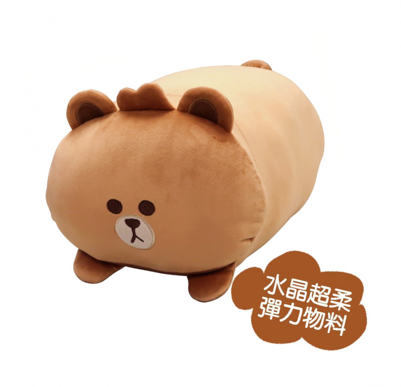LINE FRIENDS - 毛絨抱枕(Brown/Cony)