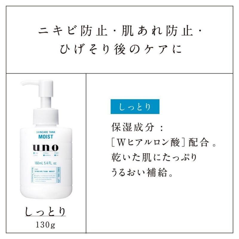 日版 資生堂UNO 男士保濕乳液肌能水乳 160ml【市集世界 - 日本市集】