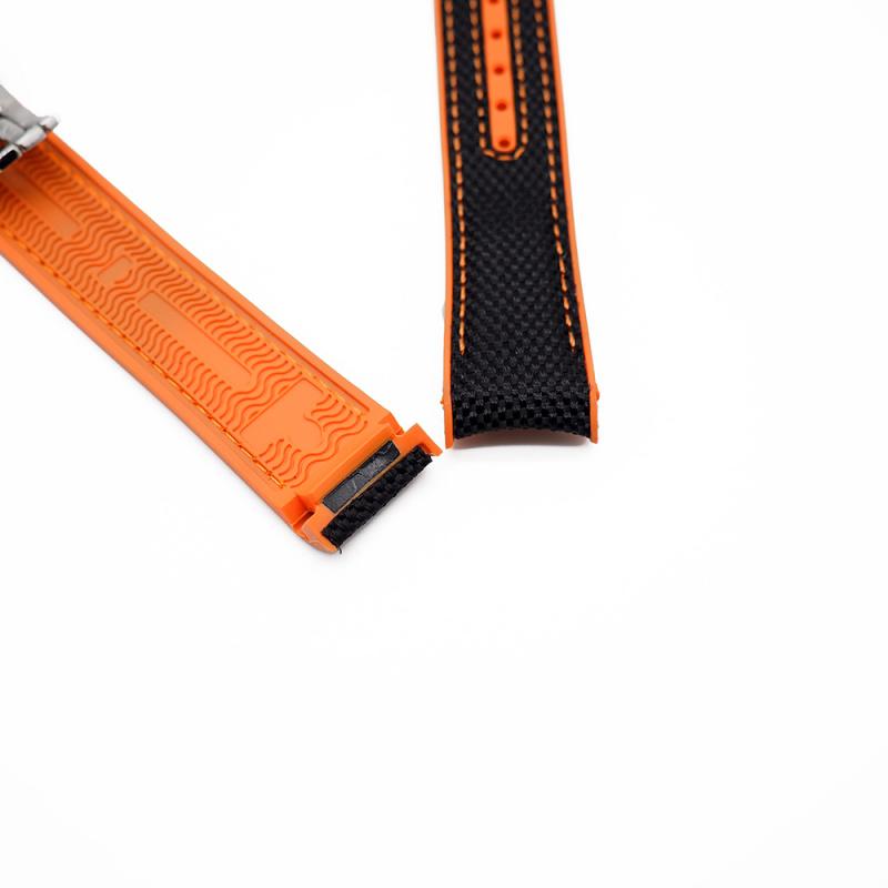 20mm, 22mm Omega 黑橙雙色代用尼龍膠錶帶 合適 Omega Seamaster Diver 300 及 Seamaster Planet Ocean