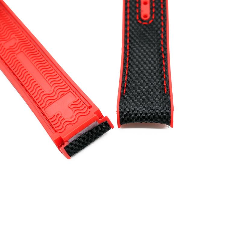 20mm, 22mm Omega 黑紅雙色代用尼龍膠錶帶 合適 Omega Seamaster Diver 300 及 Seamaster Planet Ocean