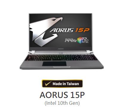 AORUS 15P (Intel 10th Gen) -i7 10875H +RTX2060 -FB