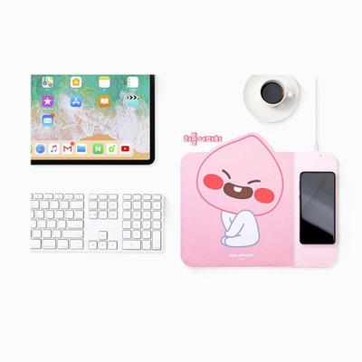 韓國KAKAO FRIENDS Qi 無線充電鍵盤滑鼠墊 - APEACH/RYAN