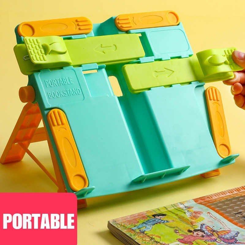 兒童多功能讀書架 便攜式 綠色