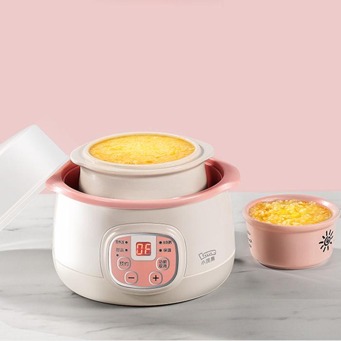 小浣熊 多功能電燉鍋 0.8L 200W DDZ-8A (粉紅) - 養生萬用電湯煲 迷你煮食鍋