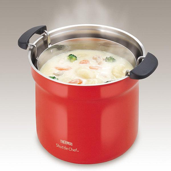 THERMOS 真空保溫燜燒鍋 4.3L (紅色) KBF-4501