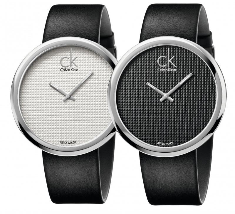 Calvin Klein Subtle 皮帶大錶盤石英腕錶 [2色]