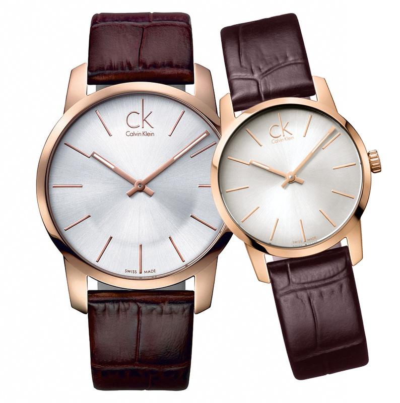 瑞士原裝 行貨正品 Calvin Klein City 系列情侶石英手錶K2G21629 K2G23620