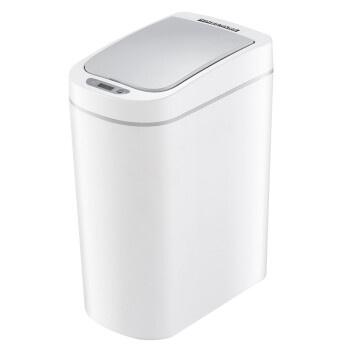 【限時優惠】Ninestars 9L防水智慧感應垃圾桶 白色