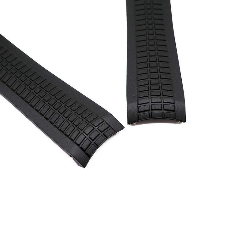 21mm 黑色 Patek Philippe 優質代用橡膠錶帶 合適 PP Aquanaut 5167