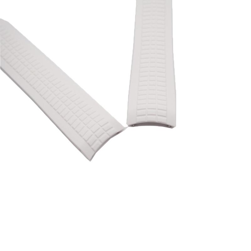 21mm 白色 Patek Philippe 優質代用橡膠錶帶 合適 PP Aquanaut 5167