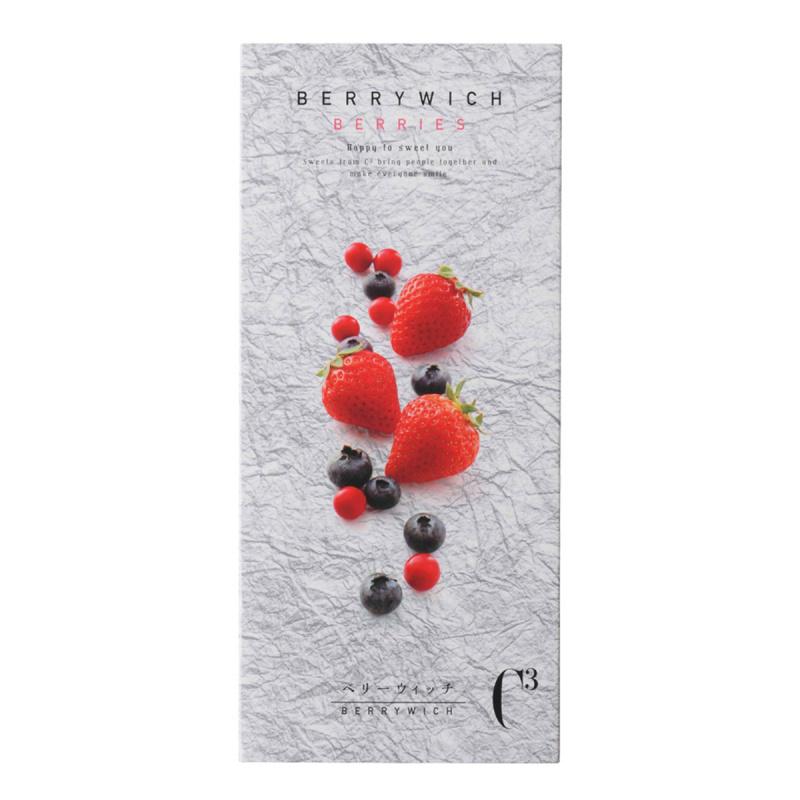 日本C3 甜點工藝店 草莓藍莓紅莓 白朱古力忌廉 曲奇酥餅禮盒 (1盒5件)【市集世界 - 日本市集】