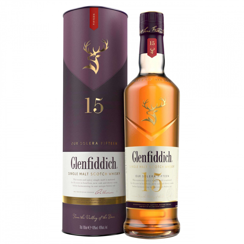 Glenfiddich 15年 Single Malt - 70cl/40%