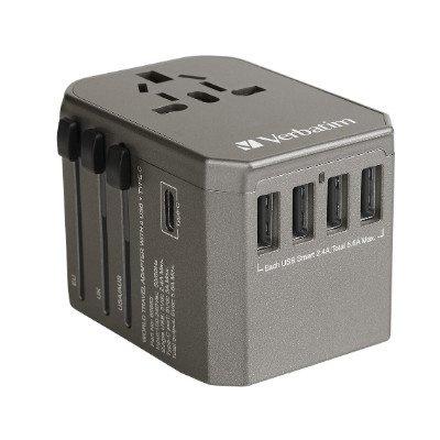 Verbatim 5 Ports 33.5W QC3.0 & PD旅行充電器(65685)