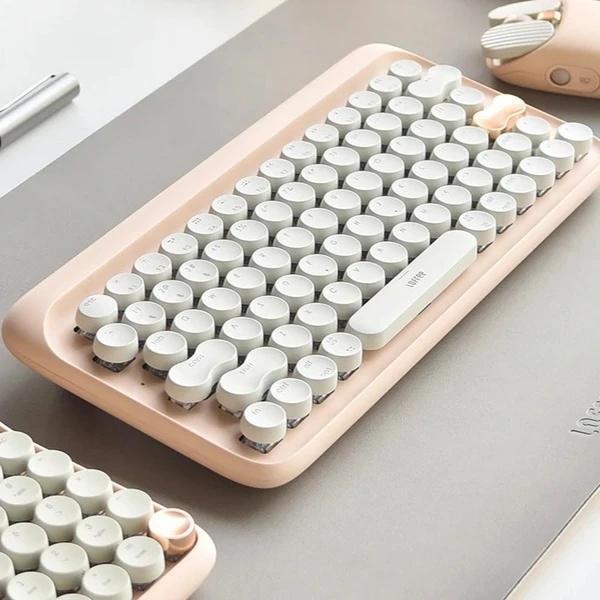 Lofree 藍牙機械鍵盤 EH112S 奶茶色/Bloom