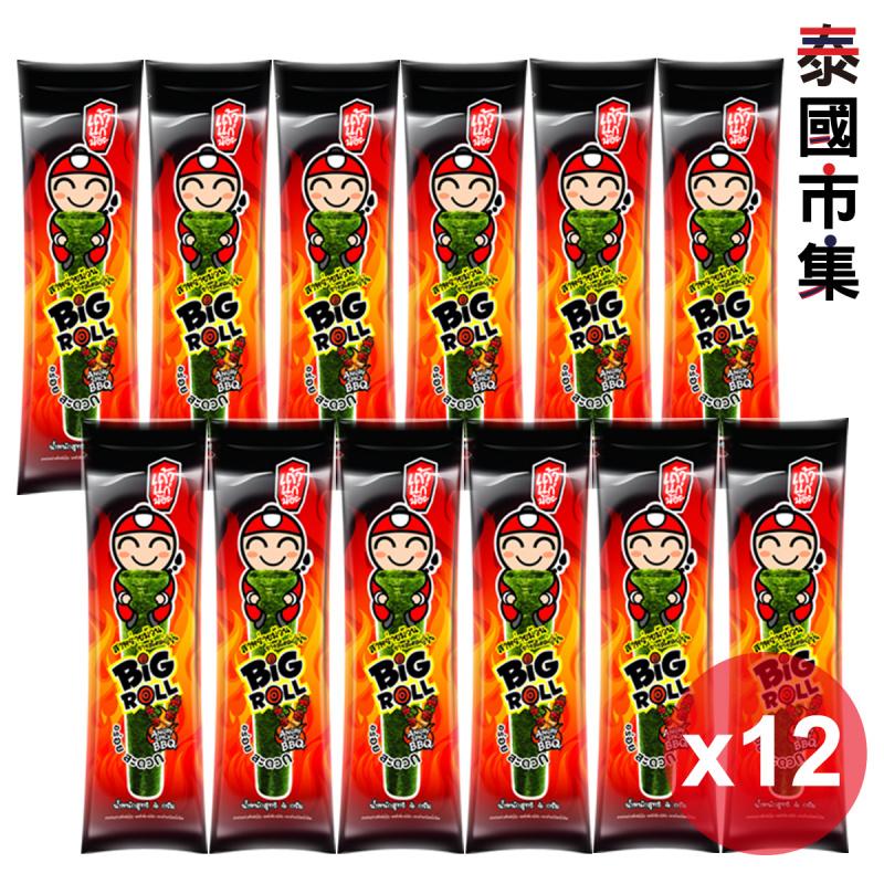 泰國 小老闆 燒紫菜卷 辣BBQ味 3g (12條) 278【市集世界 – 泰國市集】