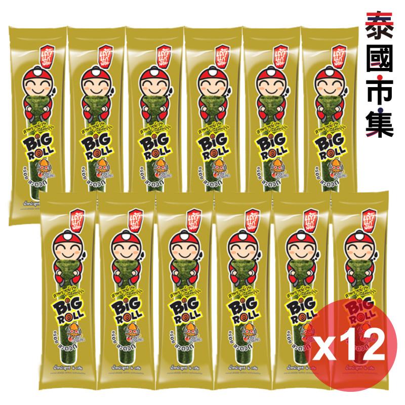 泰國 小老闆 燒紫菜卷 香辣魷魚味 3g (12條) 359【市集世界 – 泰國市集】