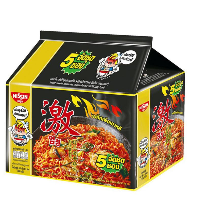 泰國版 日清 出前一丁 韓式激辛雞味 即食撈麵 60g (5件裝)【市集世界 - 泰國市集】