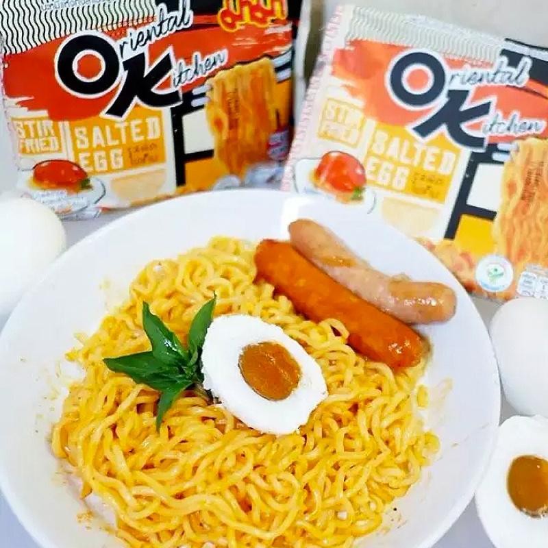 泰國 媽媽牌 OK麵 鹹蛋辣味撈麵 85g (4件裝)【市集世界 - 泰國市集】
