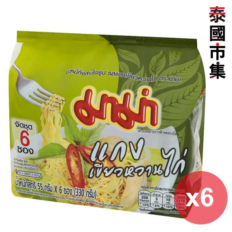 泰國 媽媽牌 即食麵 青咖哩雞肉味 55g (6件裝)【市集世界 - 泰國市集】