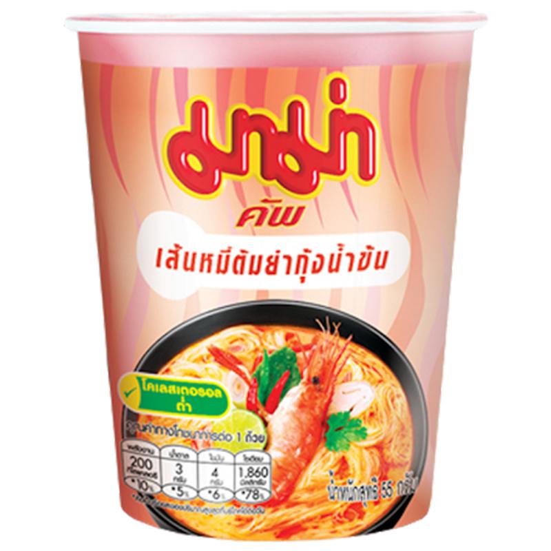 泰國 媽媽牌 米粉杯麵 冬蔭公味 55g (3件裝)【市集世界 - 泰國市集】