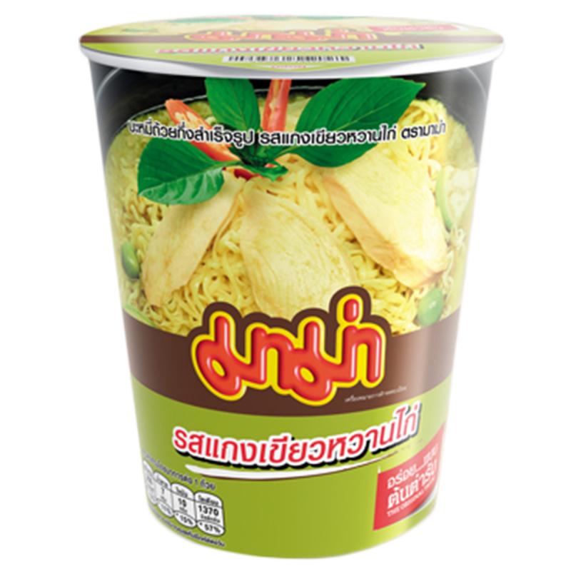 泰國 媽媽牌 杯麵 泰式青咖喱雞味 60g (3件裝)【市集世界 - 泰國市集】