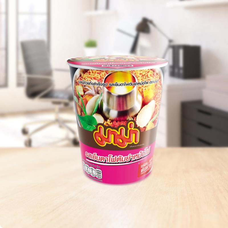 泰國 媽媽牌 杯麵 冬蔭公海鮮味 60g (3件裝)【市集世界 - 泰國市集】