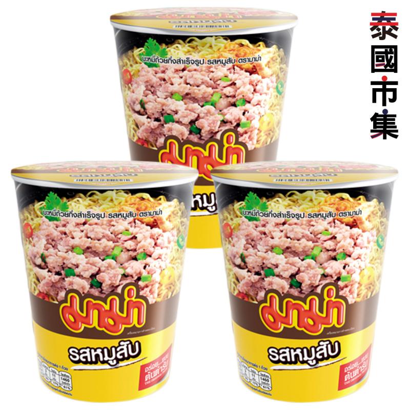 泰國 媽媽牌 杯麵 泰式辣肉碎味 60g (3件裝)【市集世界 - 泰國市集】