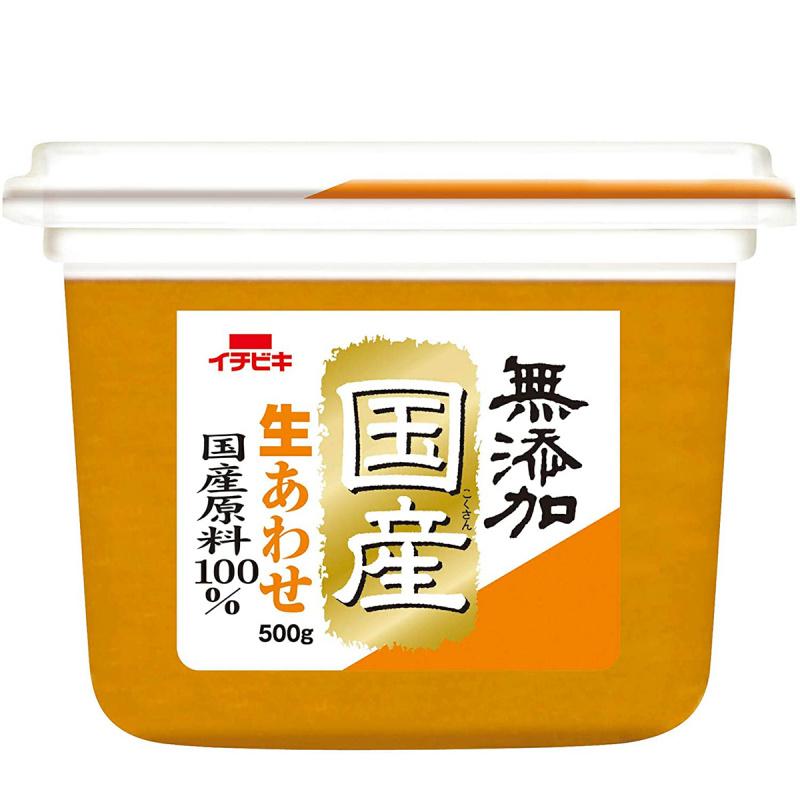 日本 イチビキ 無添加 日本國產 生味噌 500g【市集世界 - 日本市集】