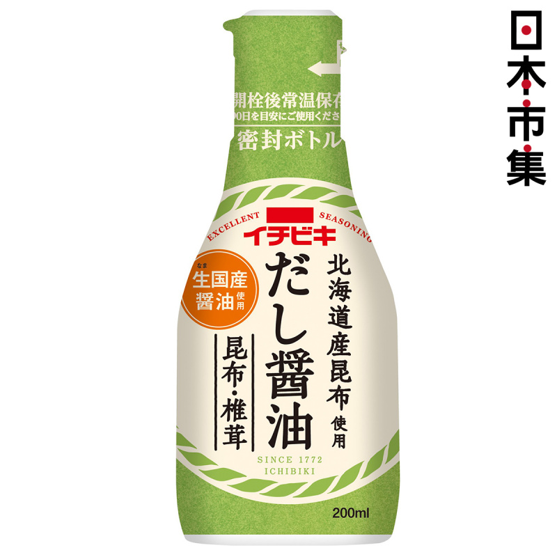 日本 イチビキ 北海道昆布椎茸醬油 200ml【市集世界 - 日本市集】