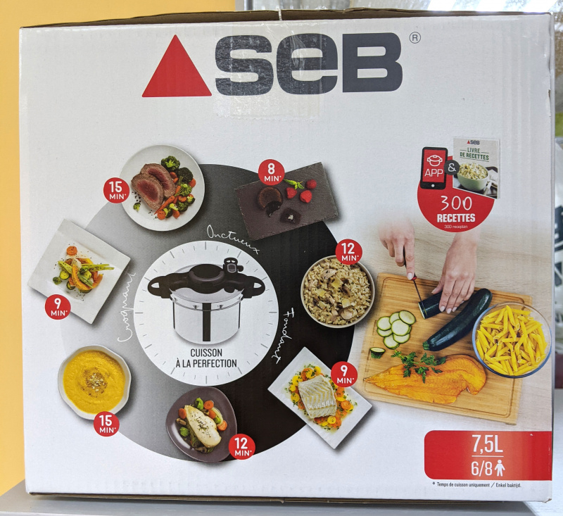 SEB - [法國製] 7.5公升高速煲(溫度感應系統) ClipsoMinut' Perfect 壓力煲 P4624808 平行進口 特福Tefal母公司旗下品牌