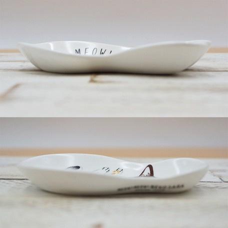 日本進口 -MEOW!MEOW!貓喵醬油盤 小食碟 3件套 [聖誕禮物 生日禮物 結婚禮品套裝]
