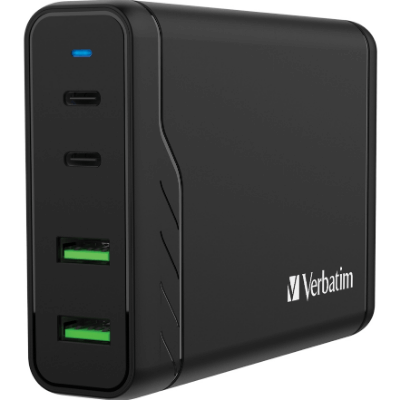Verbatim 4 Port PD & QC 3.0 100W USB充電器 66402