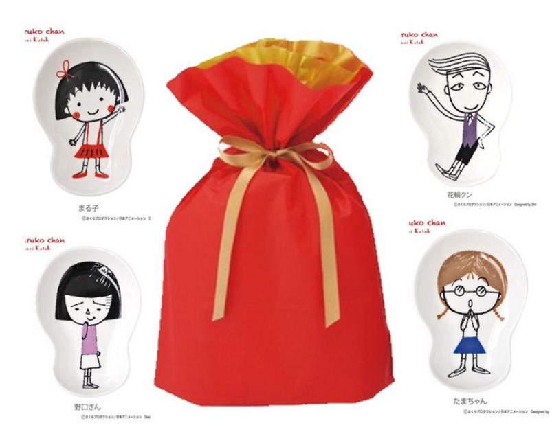 日本進口 - 小丸子醬油碟零食碟禮品包套裝 (聖誕禮物 交換禮物) 獨家熱賣福袋